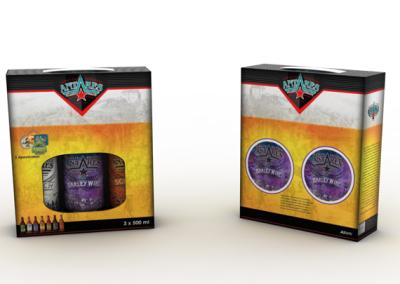 Diseño de packaging para 3 botellas 500 cc
