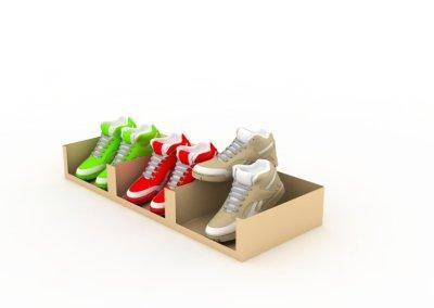 Diseño industrial Packaging zapatos