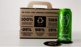 Packaging para 6 latas de cerveza c/ divisor